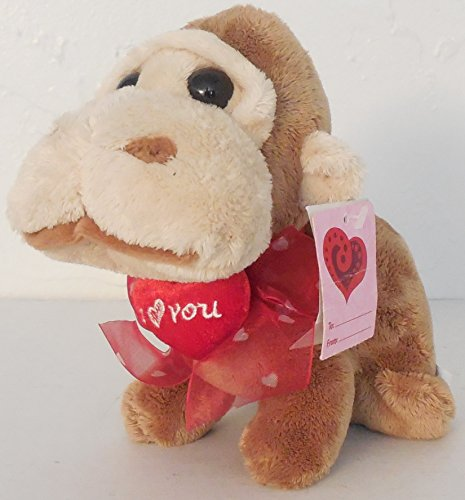 Wal-Mart Big Head Jungle Animals Beanie Plush Valentine Monkey-Type Creature - 1