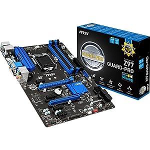 MSI Z97 GUARD-PRO Intel LGA1150 Z97 ATX Motherboard (4x DDR3, 6x USB3.0, 6x USB2.0, GBE, LAN, VGA, DVI, DP)