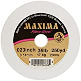 Maxima Fishing Line One Shot Spools, Fibre Glow Pink, 35-Pound/250-Yard