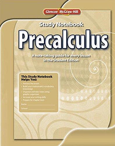 Precalculus, Study Notebook (ADVANCED MATH CONCEPTS) (Advanced Math compare prices)