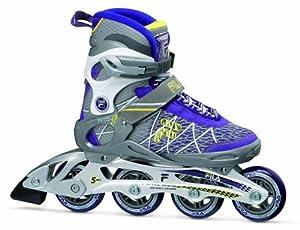 Fila Damen Inline Skate Primo ALU Lady, Silber/Pflaume, 7, 010614115