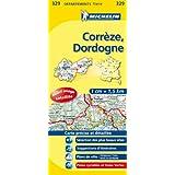 Carte DÉPARTEMENTS Corrèze, Dordogne, N°329