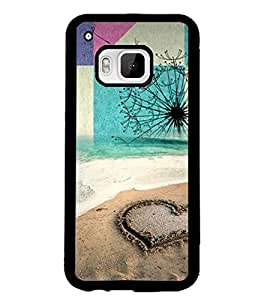 PRINTSWAG HEART ON SAND Designer Back Cover Case for HTC ONE M9