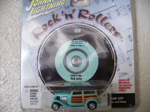 Johnny Lightning Rock N Roller Dan Fink Speedwagon with Music Cd Surf City By Jan and Dean