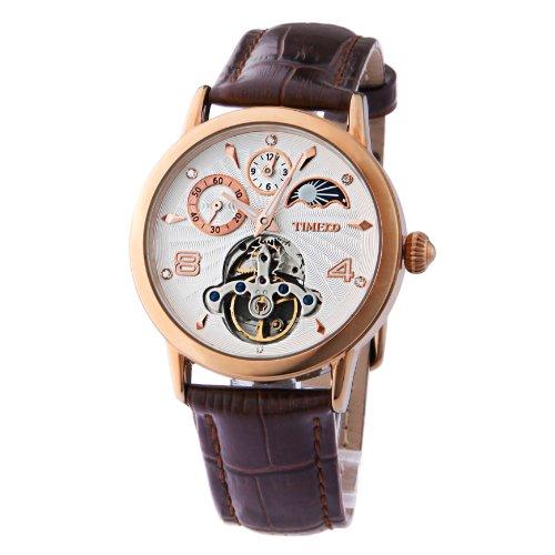 Time100 W60011M.03A - Reloj , correa de cuero color negro
