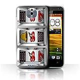 STUFF4 Phone Case Cover for HTC E1603E Cherries Design Slot Machine Collection