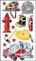 Classic Sticko Stickers-pompier