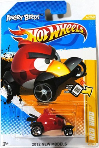 2012 Hot Wheels New Models 47/50 - Angry Birds - Red Bird - 1