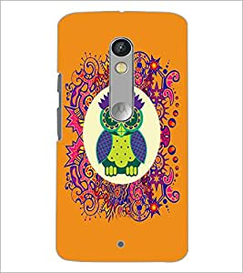 Printdhaba Funny Owl D-3543 Back Case Cover For Motorola Moto X Play