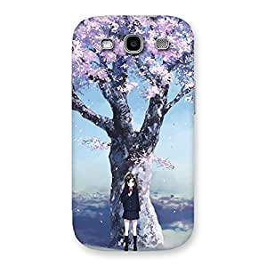 Unicovers Cherry Blossom Girl Back Case Cover for Galaxy S3 Neo