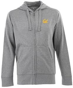Cal Signature Full Zip Hooded Sweatshirt (Grey) by Antigua
