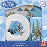 Olaf Meal Time 3PC Set Dinnerware Dine Disney Frozen Blue Dinner Tumbler, sheet and Bowl Gift