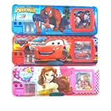 Gifts Online Multipurpose Pencil Box With Calculator & Dual Sharpner - Mixed Characters