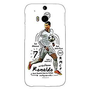 Jugaaduu Real Madrid Ronaldo Back Cover Case For HTC One M8