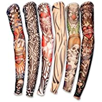 Style Lot 6-Pcs.Fake Tattoo Arm Sleeves Kit