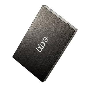 BIPRA Externe Festplatte (2,5Zoll/ 63,5mm, FAT32 ), Schwarz schwarz 320 GB