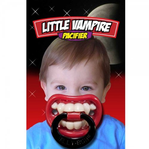 Usa Billy Bob Pacifier Baby Teether Pacy Orthodontic Nipples Lip Novelty Lil Vampire By Preciastore front-957406