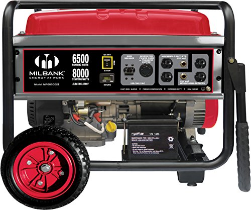 Milbank Milbank MPG6500E Portable Generator with Electric Start, 6,500-watt