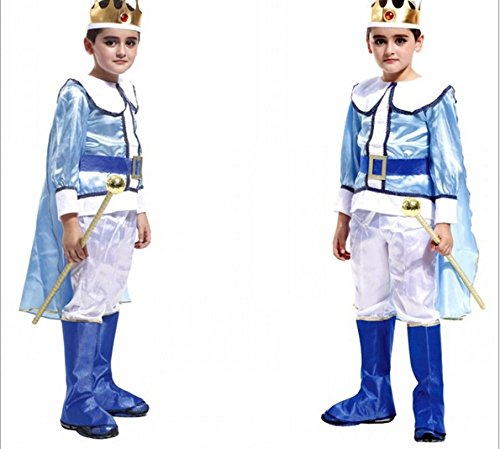 Fandecie Kid's Cute Little King Prince Halloween Cosplay Costumes