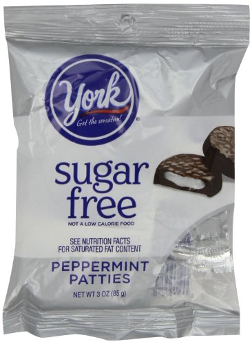 York Peppermint Patties, Sugar Free, 3-Ounce Packages (Pack of 12)