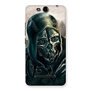 Luxirious Deadly Skull Back Case Cover for Micromax Canvas Juice 3 Q392