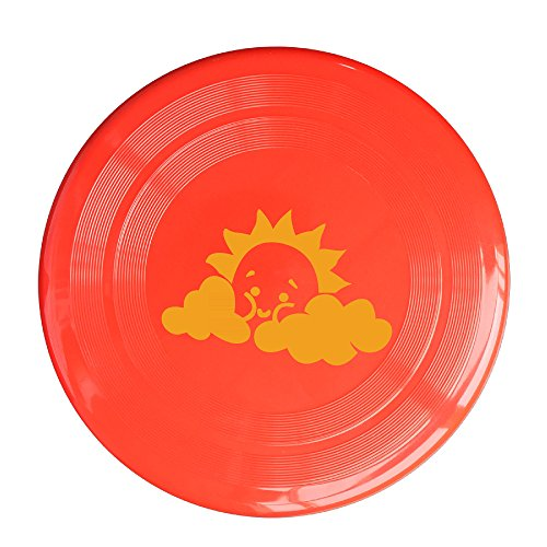 Discovery Wild Cute Sun Plastic Flying Sport Discs - Frisbee Like Toy For Outdoor Game Play - Sports For All Ages - Party Fun - Red