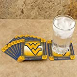 NCAA West Virginia Mountaineers 8-Pack Absorbent PaperKraft Coasters at Amazon.com
