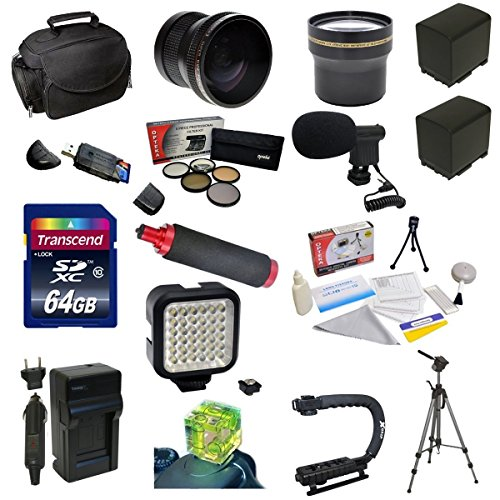 Advanced Accessory Package For The Canon Vixia Hf G10, Hf G20, Hf G30, Hf S20, Hf S21, Hf S30, Hf S200 Includes 64Gb High Speed Error Free Sdhc Memory Card + Professional 5 Piece Filter Kit (Uv, Cpl, Fl, Nd4 And 10X Macro Lens) + 0.20 X High Definition Ii