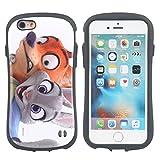 iPhone6s iPhone6 ケース カバー ズートピア ディズニー iface First Class 正規品 ストラップホール / ジュディ&ニック