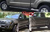 Fits 2005-2014 Toyota Tacoma Ext Cab 4Dr Black Side Step Nerf Bars