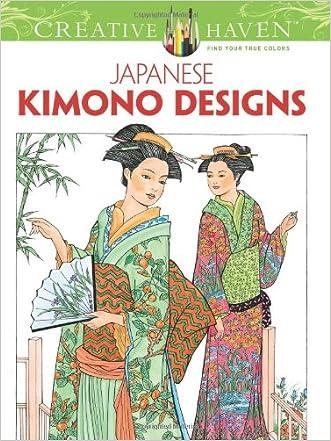 Creative Haven Japanese Kimono Designs Coloring Book (Adult Coloring)