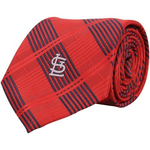 St Louis Cardinals Woven Plaid Necktie at Amazon.com