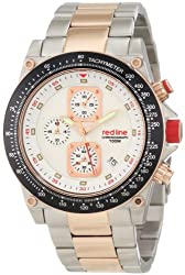 red line Mens RL-50040-22-RG-SS Simulator Chronograph White Textured Dial Watch