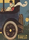 Vintage Automobile PIRELLI TYRES, ITALY c1920 250gsm ART CARD A3 Reproduction Poster