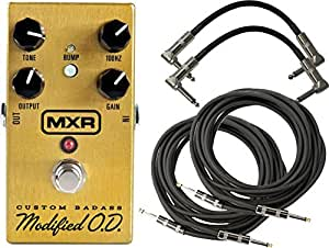 MXR M77 Badass Overdrive Stomp Box w/4 Free Cables