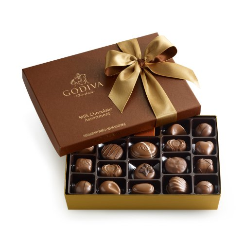 GODIVA Chocolatier Milk Chocolate Gift Box Classic Gold Ribbon 22 Pieces