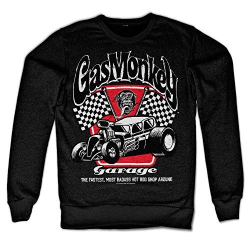 Officially Licensed Merchandise Badass Gas Monkey Garage Sweatshirt (Black), Medium