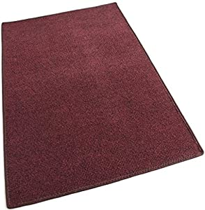"""4'x6' - RED MULTI - Indoor/Outdoor Area Rug Carpet, Runners & Stair Treads with a Non-Skid Latex Marine backing and Premium Nylon Fabric FINISHED EDGES . Olefin , 3/16"""" Thick + Medium Density. MANY SIZES and Shapes. Rectangles, Squares, Circles, Half Rounds, Ovals, and Runners."""