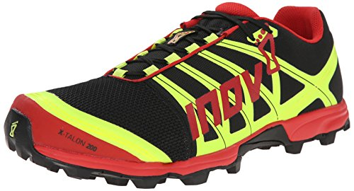 Inov-8 X-talon 200 Trail Running Shoe,Black/Red/Yellow,10.5 M US