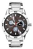 Adamo Silver Mens Gents Wrist Watch AD106