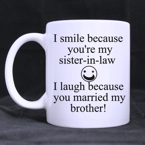 Wedding Gifts Presents Funny Quotes I smile because youre my sister ...
