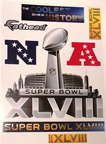 Seattle-Seahawks-FATHEAD-Super-Bowl-48-Set-of-7-Official-NFL-Vinyl-Wall-Graphics-17x12