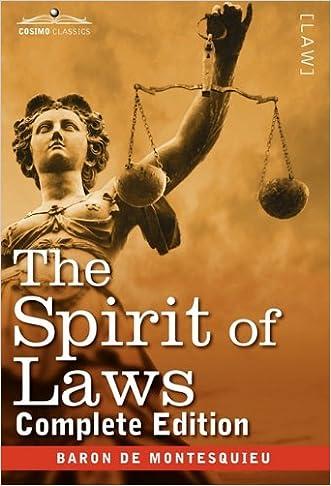 The Spirit of Laws (Cosimo Classics)