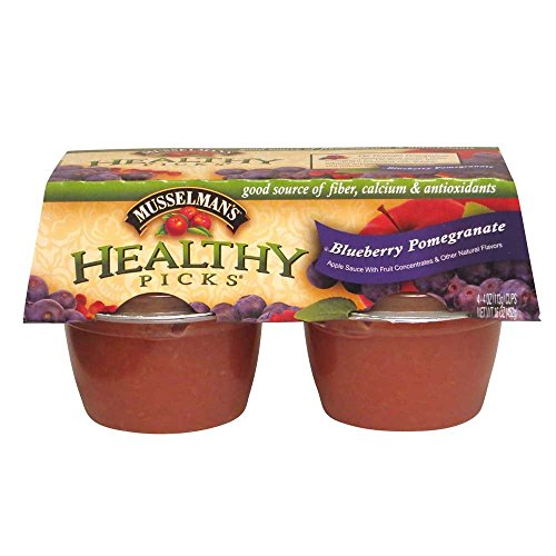 Knouse Foods Healthy Pick Blueberry Pomegranate Apple Sauce, 4 Ounce -- 48 per case. (Pomegranate Apple Sauce compare prices)