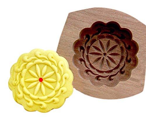 moules de cuisson de dessert/bois moules de cuisson, Plum fleur(8.5*8.5*1.5cm)