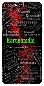 Karunanidhi (One Whose Heart Is Full Of Kindness) Name & Sign Printed All over customize & Personalized!! Protective back cover for your Smart Phone : Samsung Galaxy A-7
