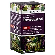 ResVitale Resveratrol, 500 mg, Vegetarian Capsules, 30 capsules
