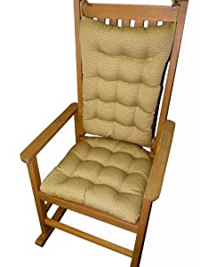 Rocking Chair Cushion Set Sheridan Pecan Chenille Dots Fits