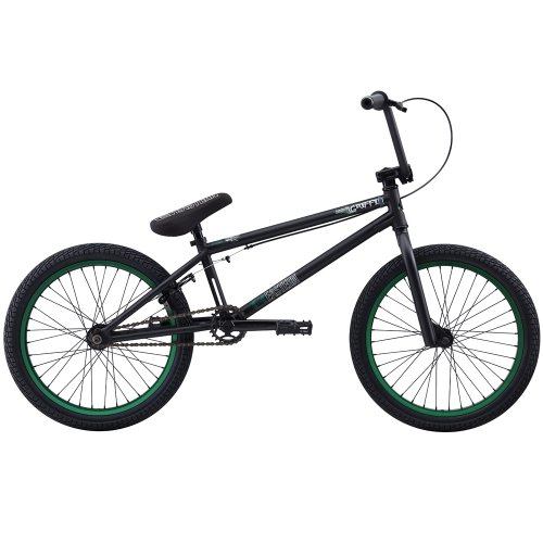 Eastern Bikes Griffin 2013 Edition BMX Bike (Matte Black/Green Rim, 20-Inch)