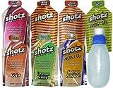 shotzショッツエナジージェル(カーボショッツ) おためし7味 (45g×7個)フラスクボトルセット